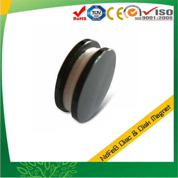 Black Epoxy Plating Round Neodymium Magnet