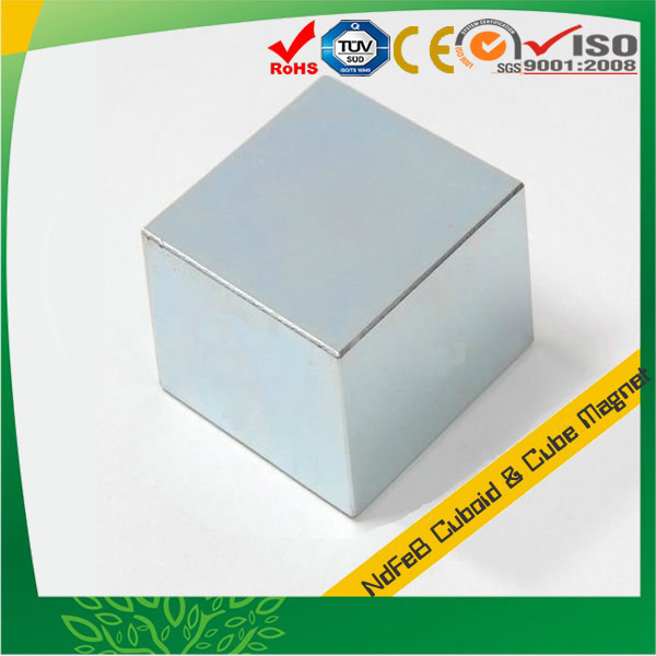 Zinc Coating Big Cube Neo Magnet