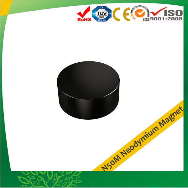 Black Epoxy Coating N50M Disc Magnets
