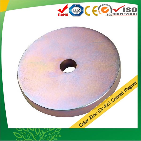 Color Zinc Coating Neodymium Magnets