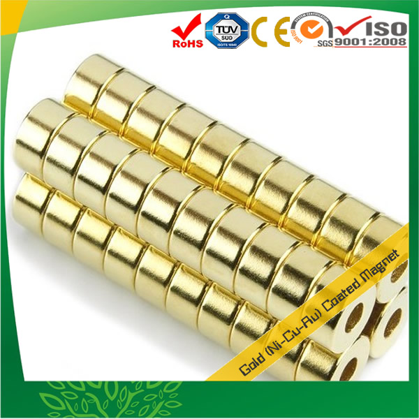 Golden Coated Neodymium Magnets