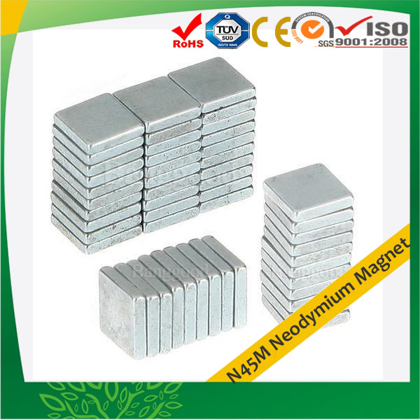 N45M Super Strong Block Magnet Zn-coating