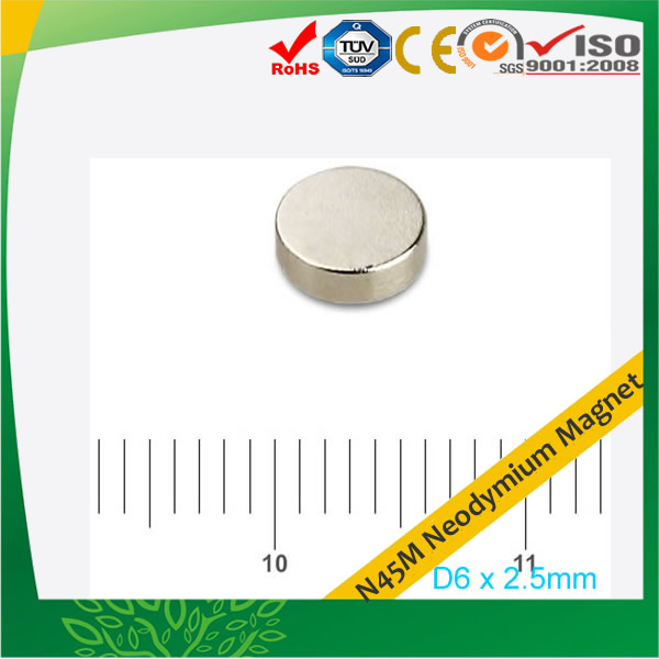 Sintered Neodymium-Iron-Boron Disc-shaped N45M