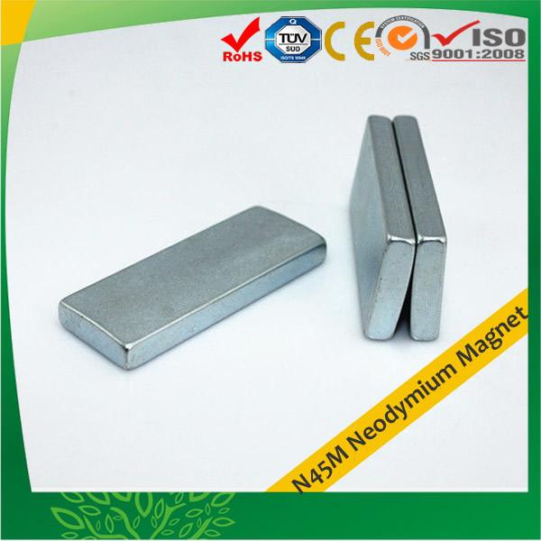 Zinc-plated Segment N45M NdFeB Magnet