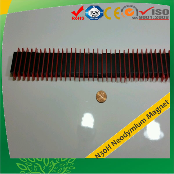 Black Epoxy Coating Rectangular NdFeB Magnet N30H