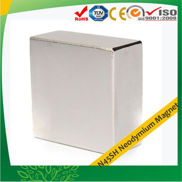 Large Block Neodymium Magnet N45SH