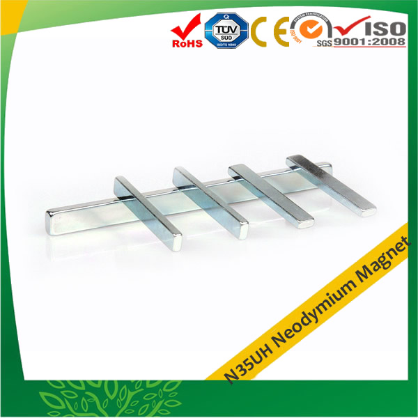 N35UH Rectangular Magnet w Zinc Plating