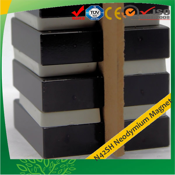 N42SH Epoxy Plated Block Square Magnets