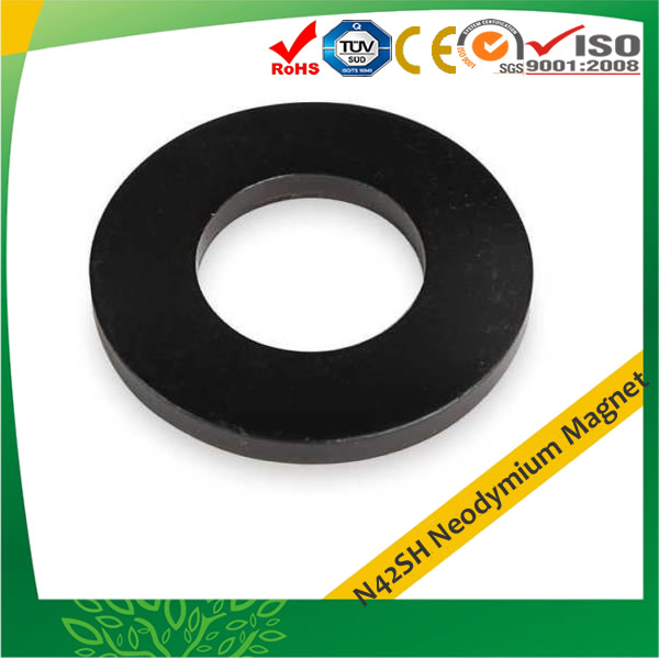 N42SH Neodymium Magnet Ring Epoxy Black