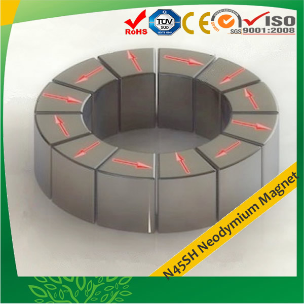 N45SH Magnetic Material Segment Neo Magnets