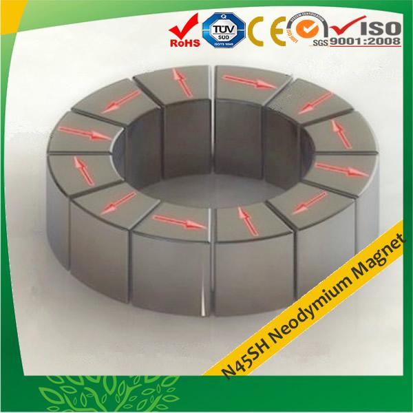 N45SH Magnetic Material Segment Neo Magnets