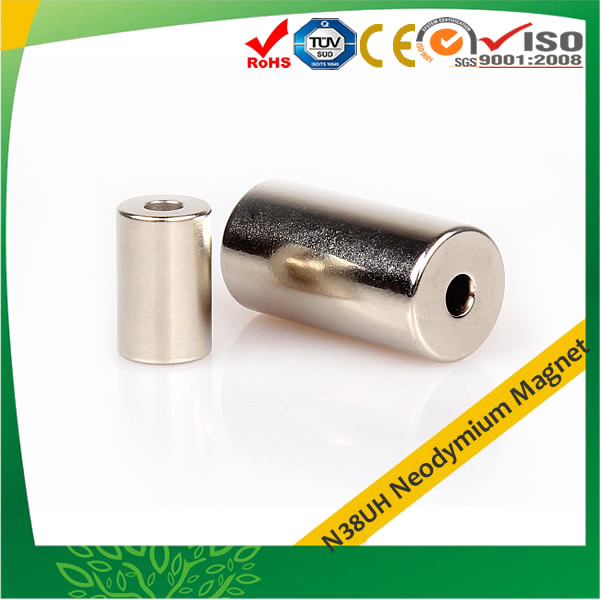 Rare Earth Tube Magnet Nickel Plating N38UH