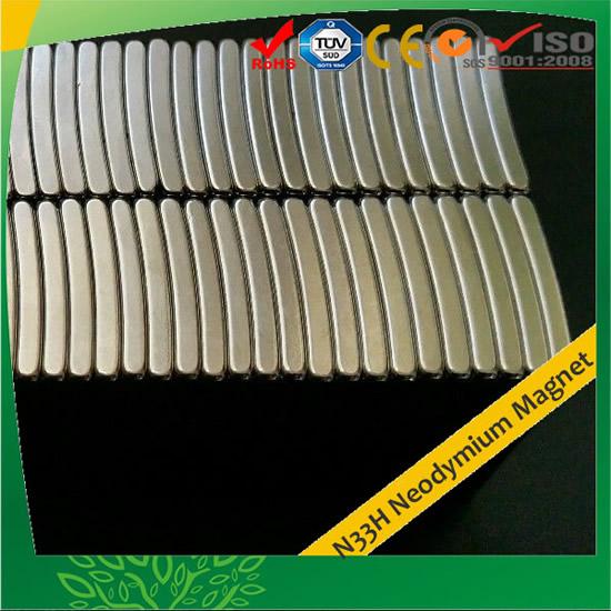 Segment Permanent Neodymium Magnets N33H