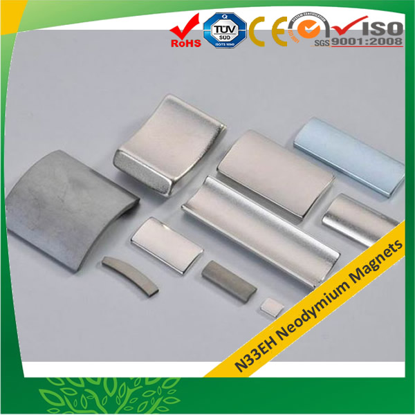 N33EH Neodymium Magnets Tile for Motor