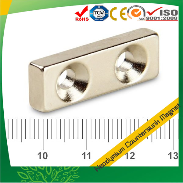 90 ° Countersunk Holes Block Magnet