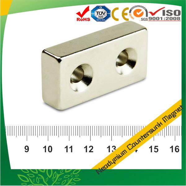 Block Countersunk NdFeB Magnet