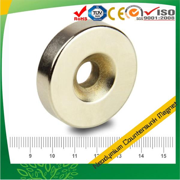 Countersunk Disc Magnet Max.120 °C N35H