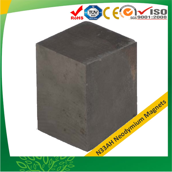High Energy No Coating Block Magnets N33AH