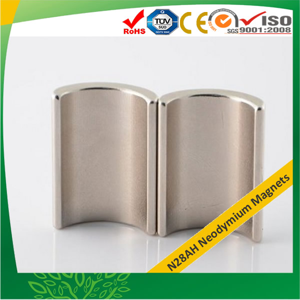 High Precision Segment N28AH Neodymium Magnets