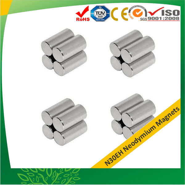 Max 200 °C Neodymium Cylindrical Magnets
