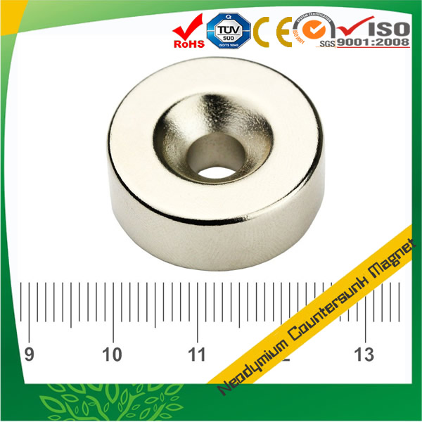 NdFeB Disc Permanent Magnet with Countersunk Hole