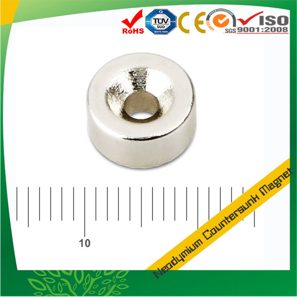 Neodymium Disc Magnet with Countersunk Hole