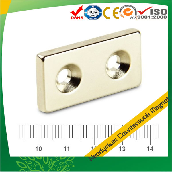 Rare Earth Block Neodymium Countersunk Magnet