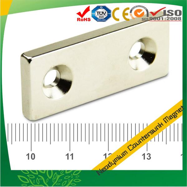 Rectangular NdFeB Countersunk Magnet