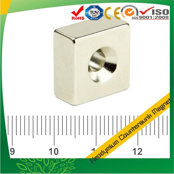 Sintered Neodymium Countersunk Square Magnet