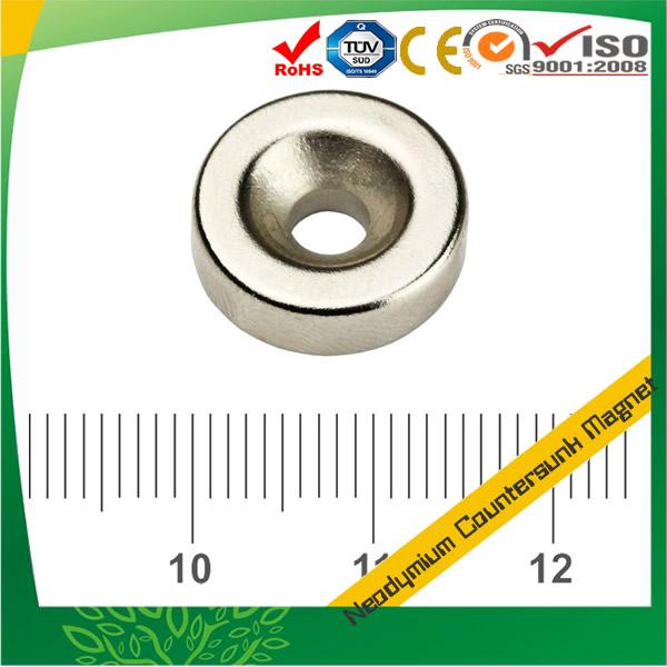 Sintered Neodymium Disc Countersunk Magnet