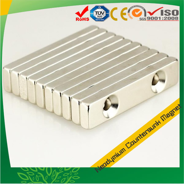 Strong NdFeB Countersunk Rectangular Magnets