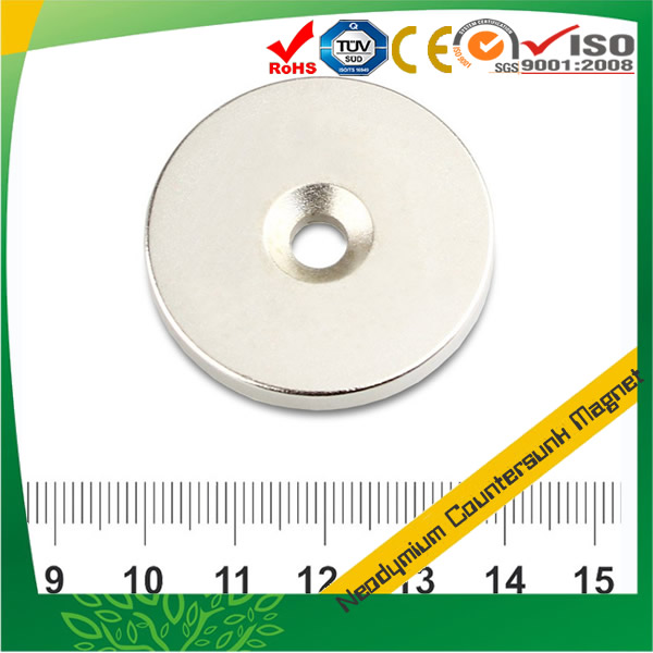 Strong Neodymium Countersink Magnet Disc Shaped