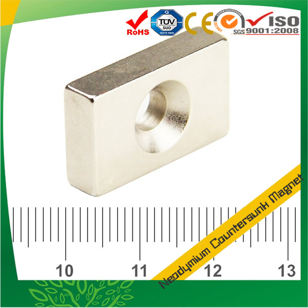 Super Strong Block Countersunk Magnet