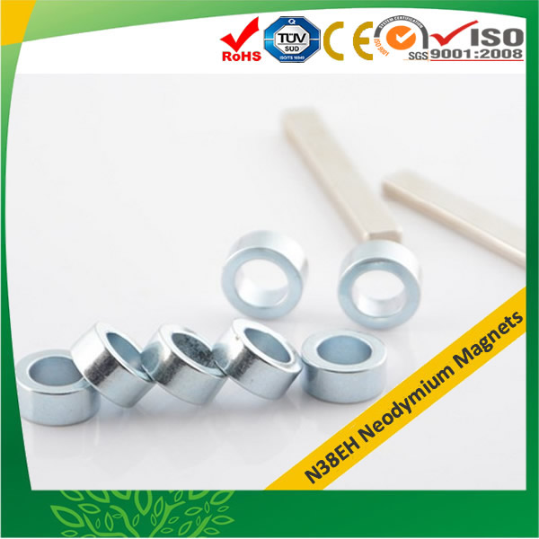 Zn Plated Ring Neodymium-Iron-Boron Magnets