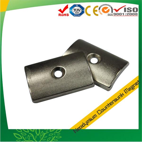 Arc Countersunk Hole Neodymium Magnet