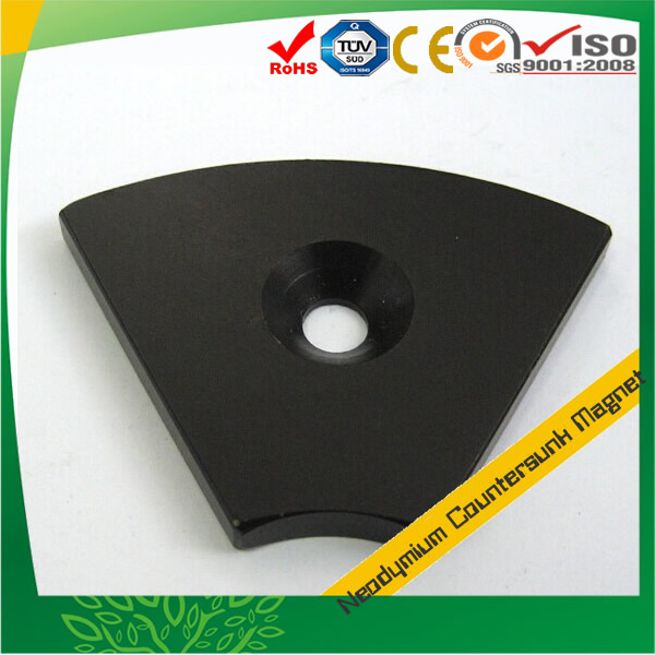 Black Epoxy Plated NdFeB Countersunk Magnet