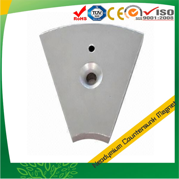 Customized Segment Magnet with Countersunk Hole