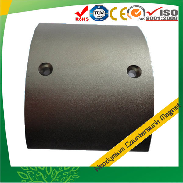 Sintered Neodymium Countersunk Segment Magnet