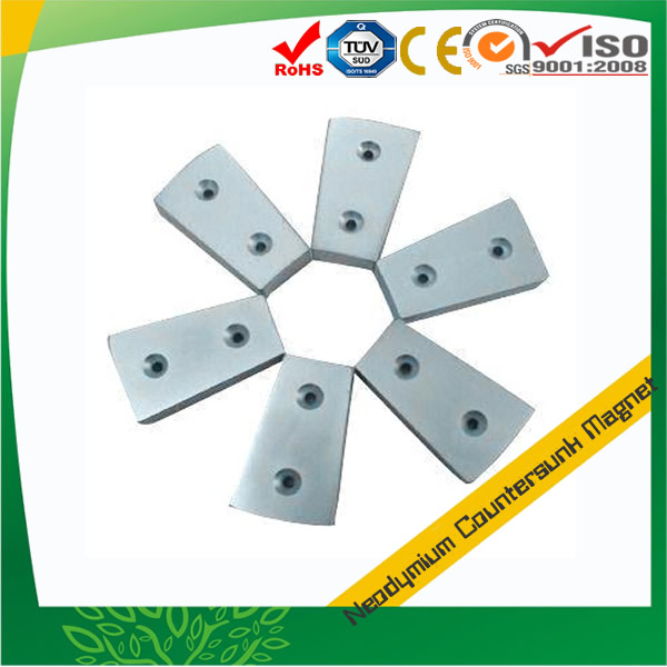 Super Strong Countersunk Magnet Arc Shape