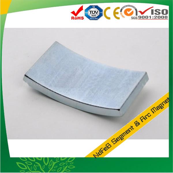 Zinc Plated N50 Sintered Segment Magnet